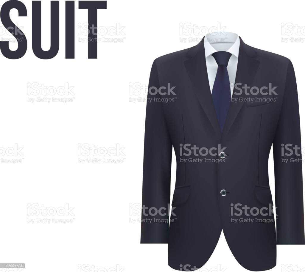 Suit isolated on white background. Vector vector art illustration