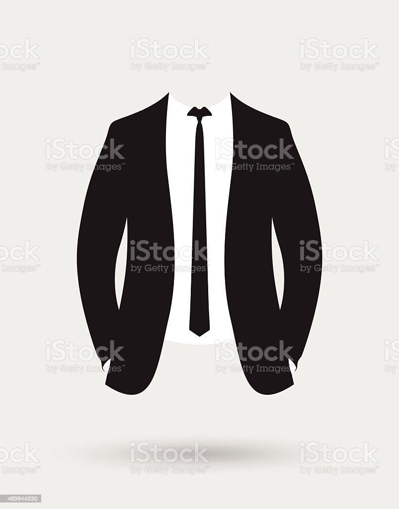 suit jacket vector art illustration