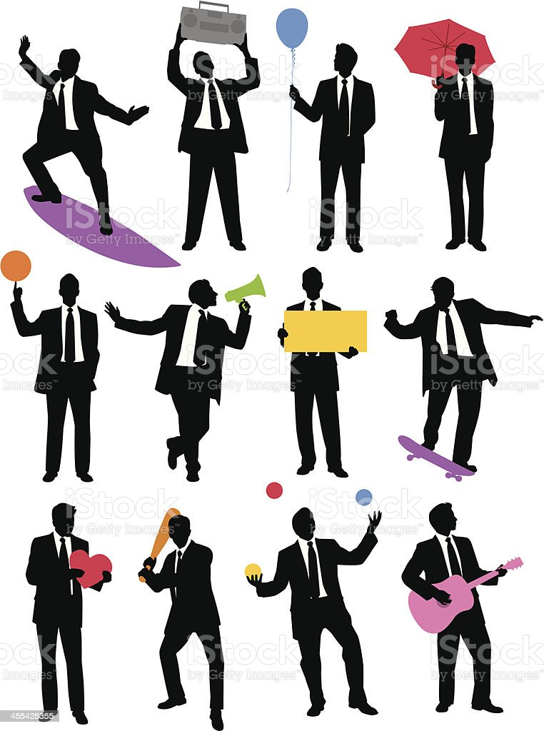 Suit Man royalty-free stock vector art