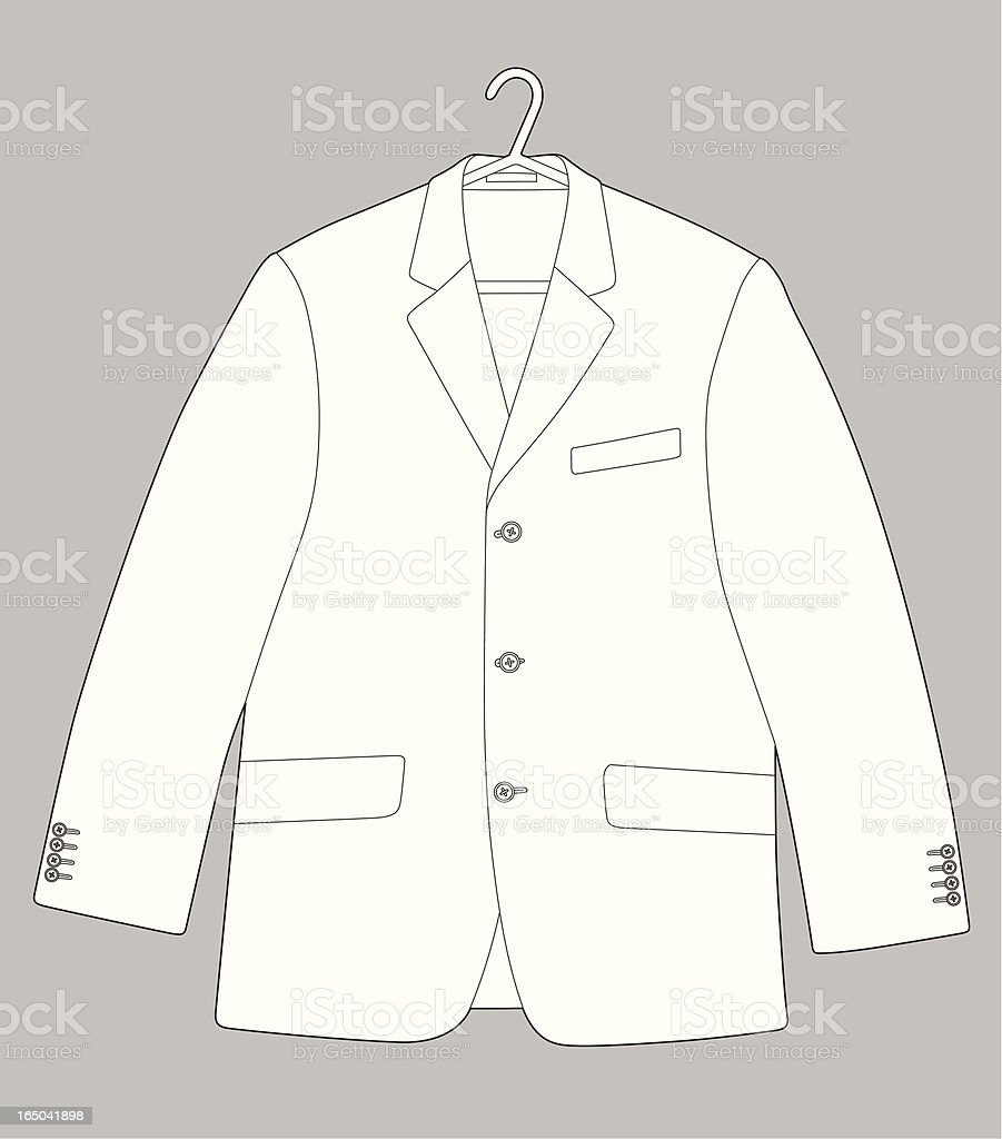 Suit vector art illustration