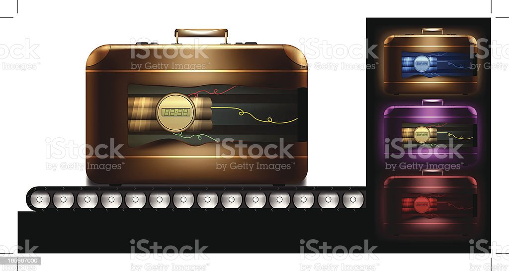 Suitcase bomb royalty-free stock vector art