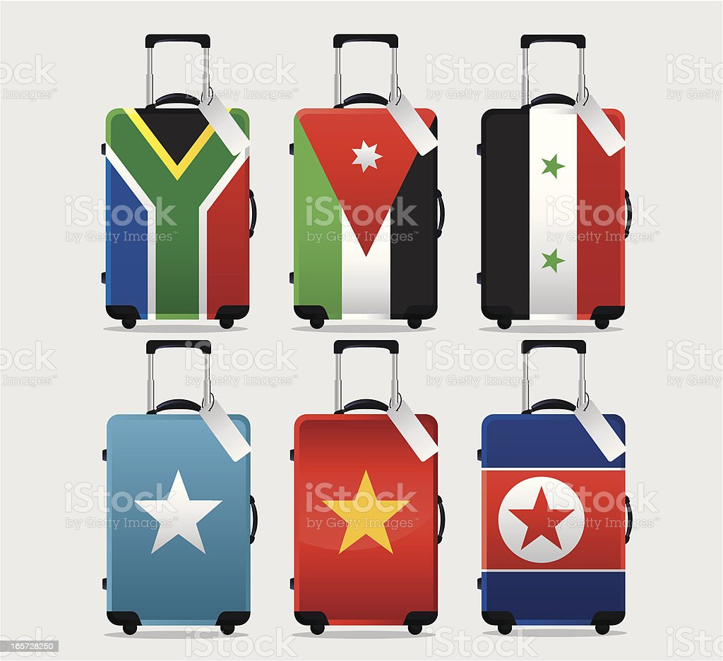 Suitcase National Flag Collection royalty-free stock vector art