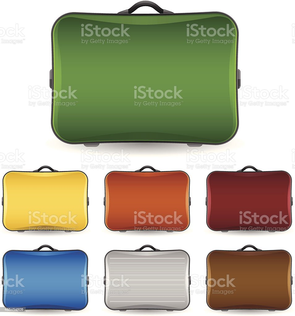 Suitcases and Luggage vector art illustration