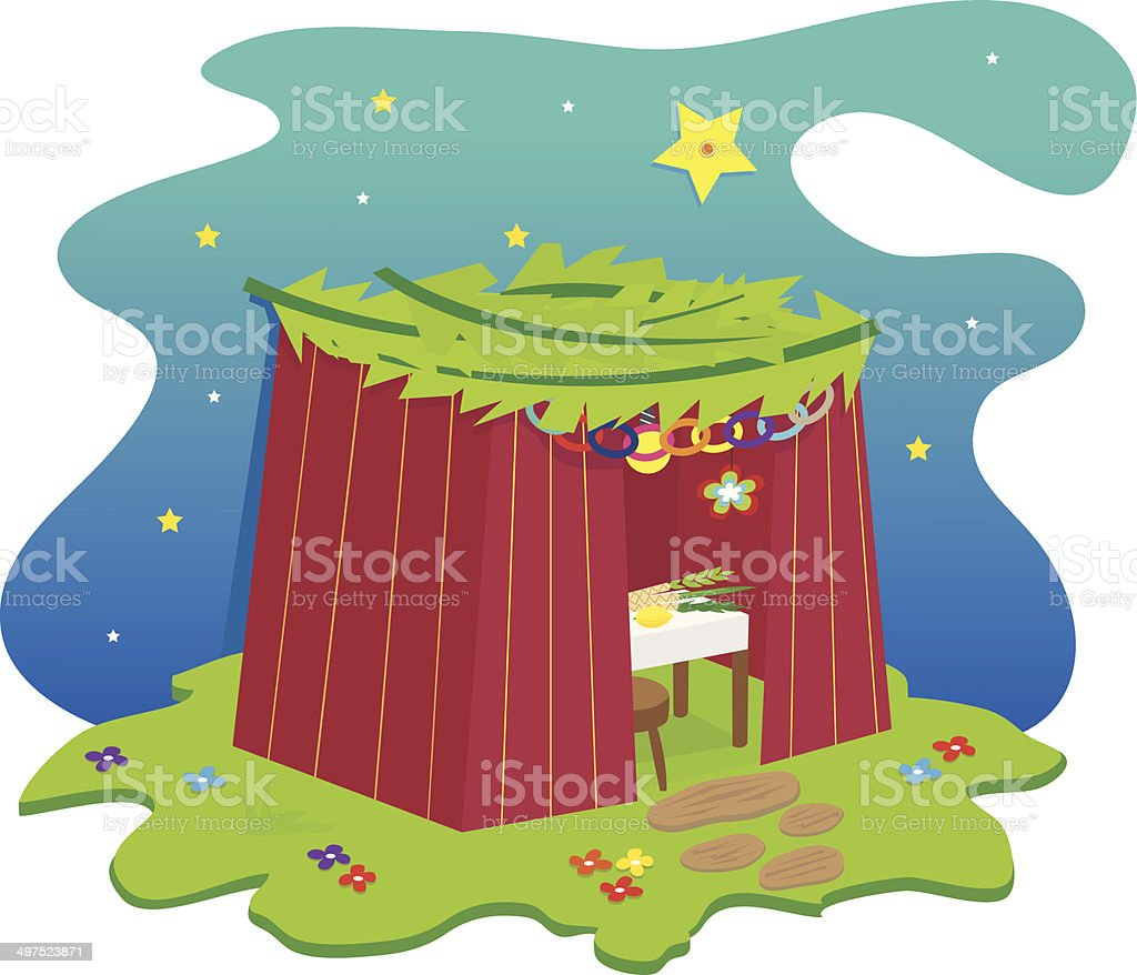 Sukkah Icon royalty-free stock vector art