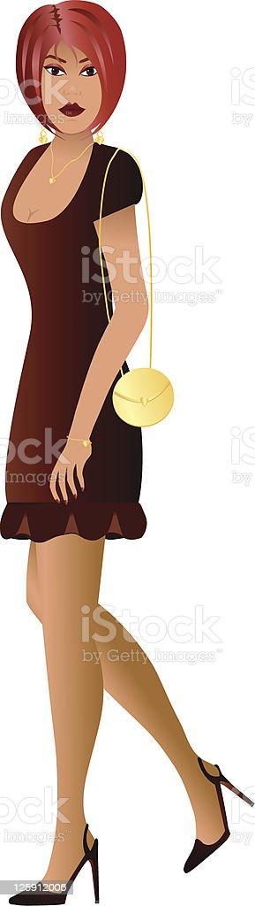 Sultry in Burgundy vector art illustration