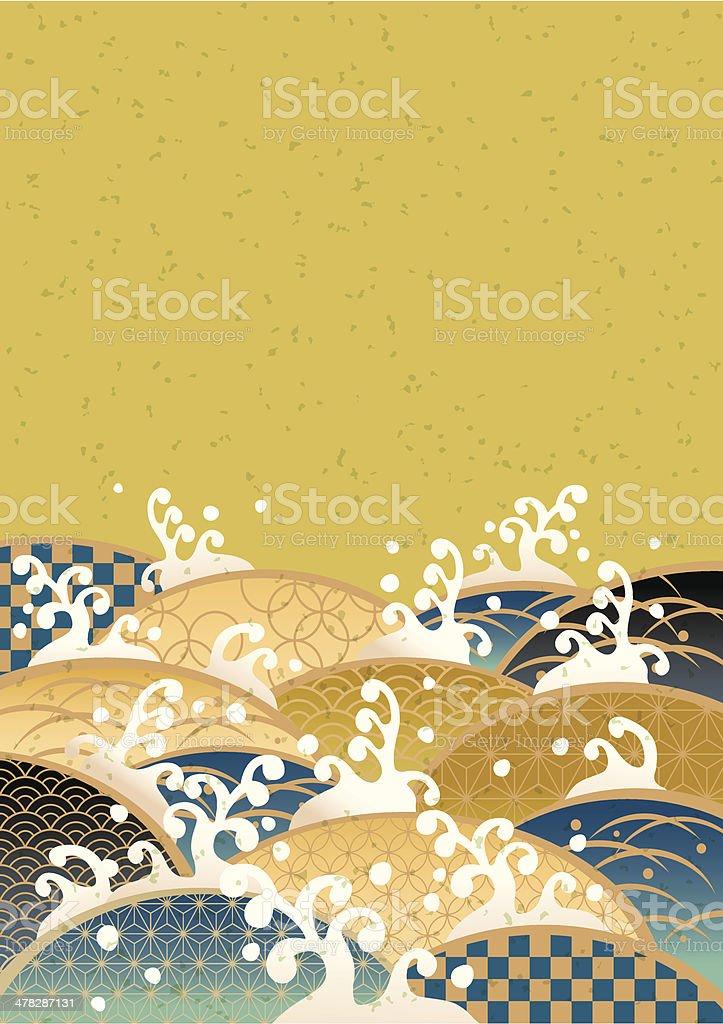Sum pattern of the sea of Japan vector art illustration