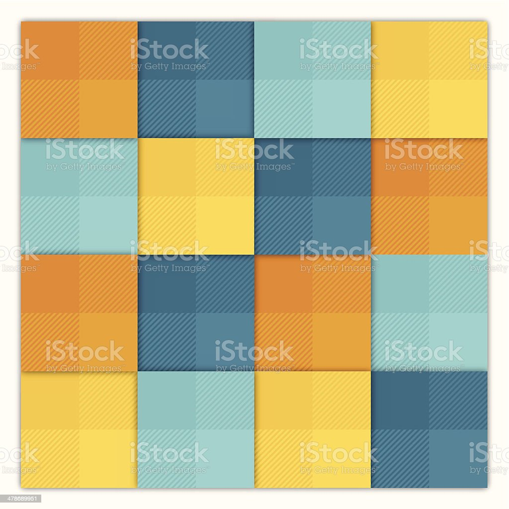 Summer Abstract Squares Background vector art illustration