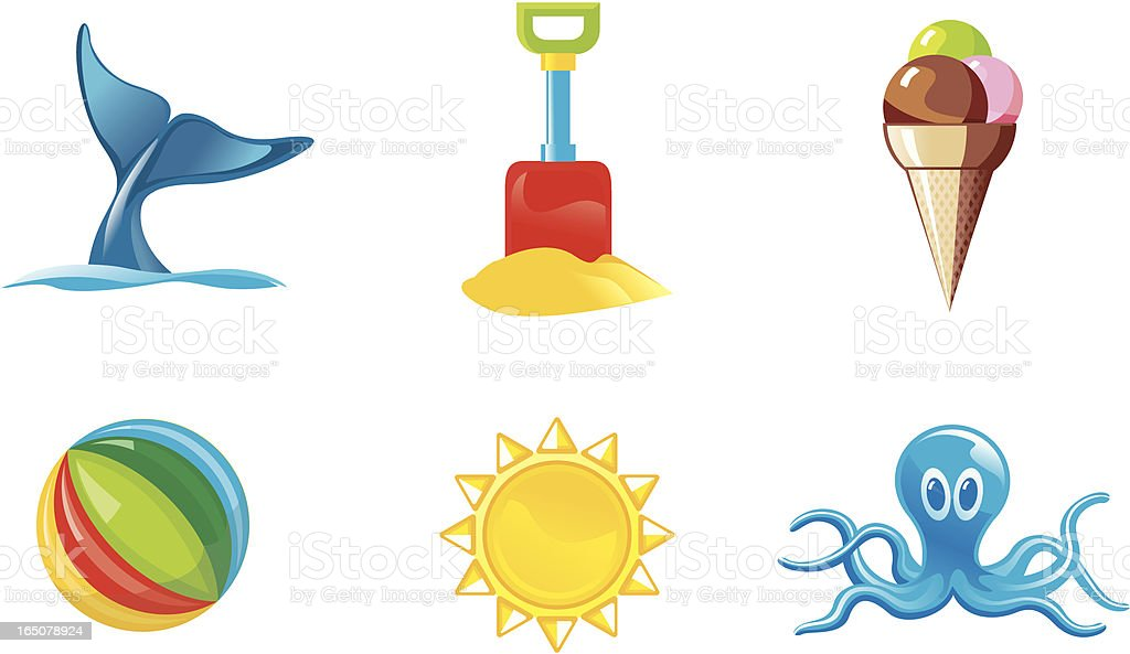 summer activities 2 - icons royalty-free stock vector art