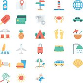 Summer and Holidays Colored Vector Icons 2