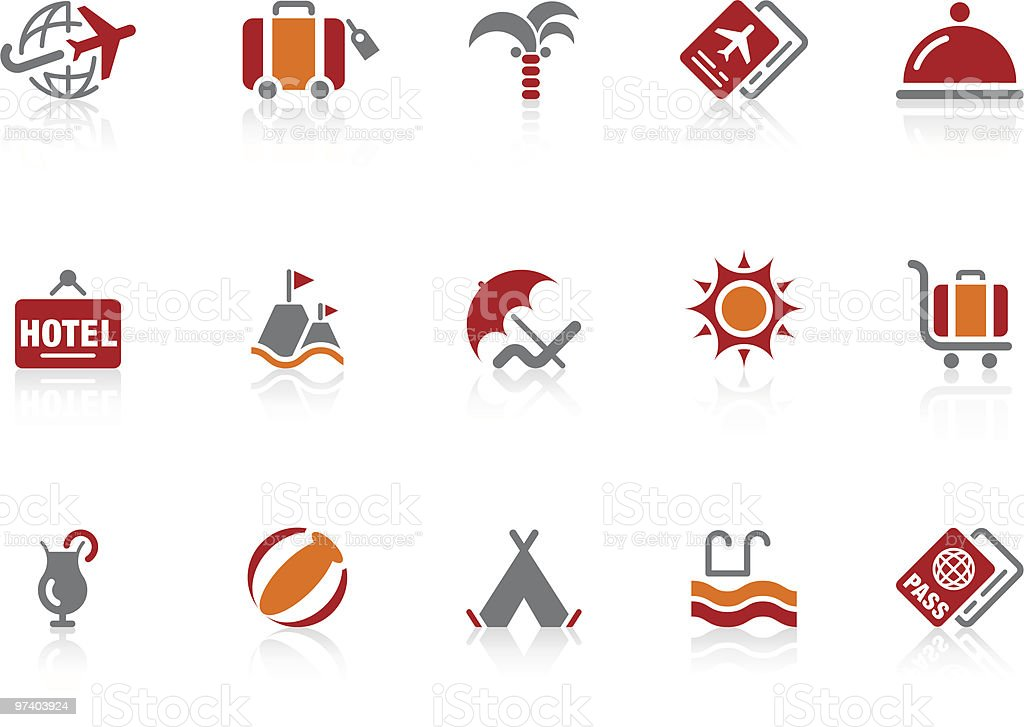 Summer and vacation icons | Alto series royalty-free stock vector art