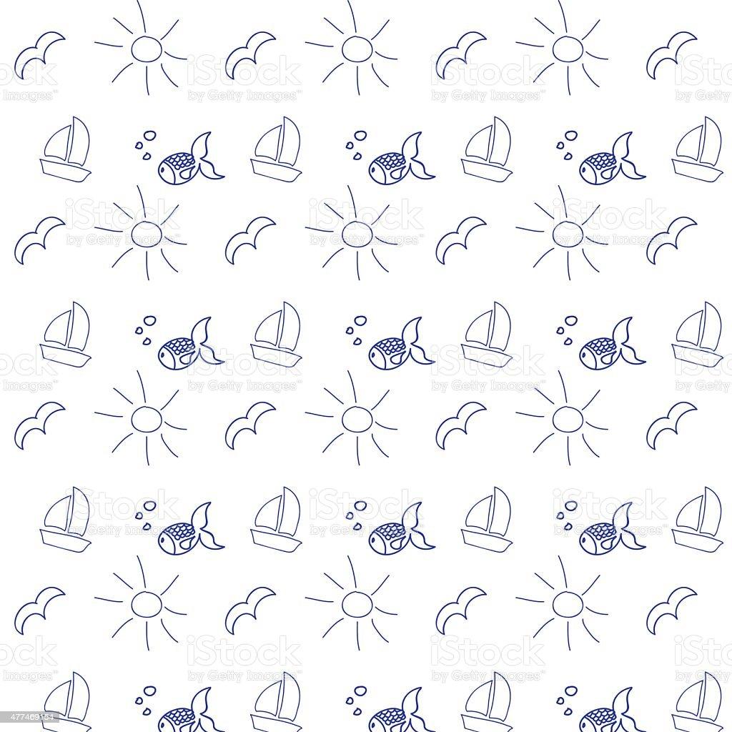 summer background pattern vector art illustration