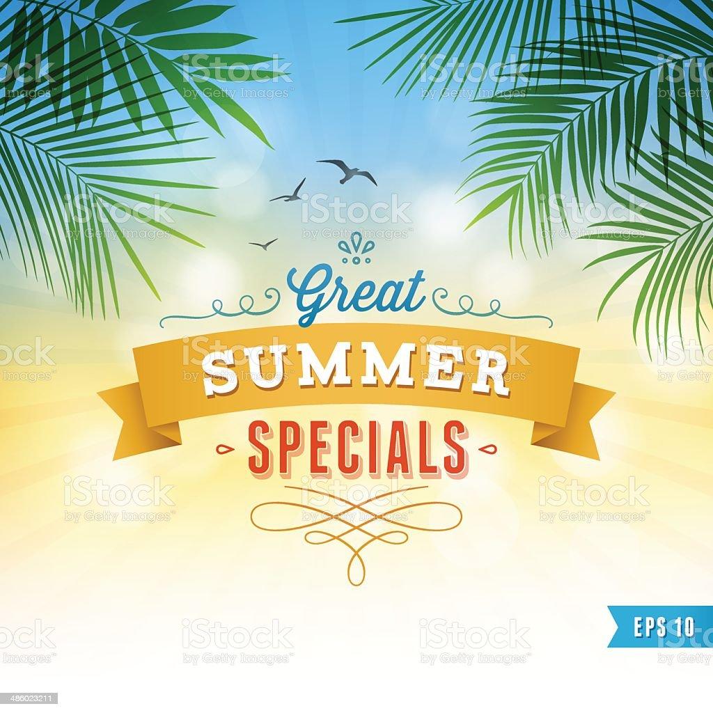 Summer Background vector art illustration