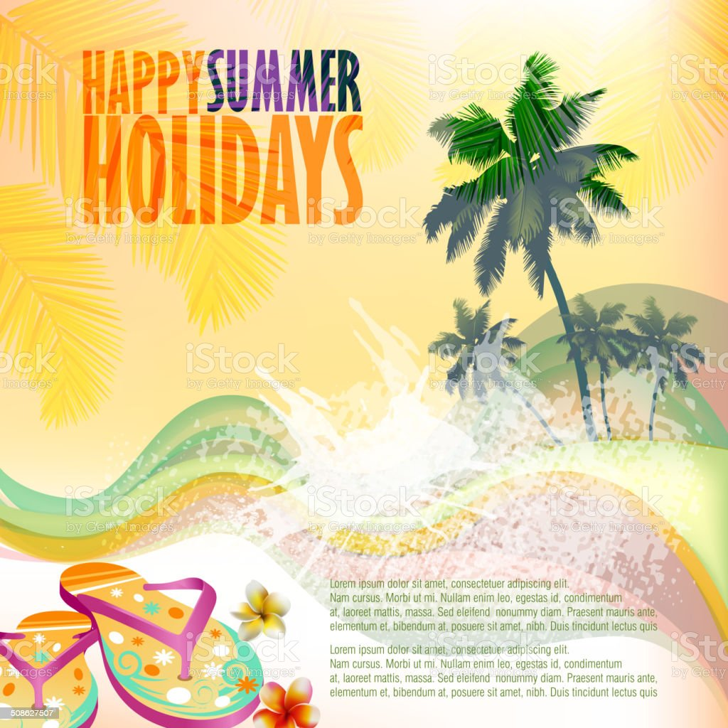 Summer Background vector art illustration