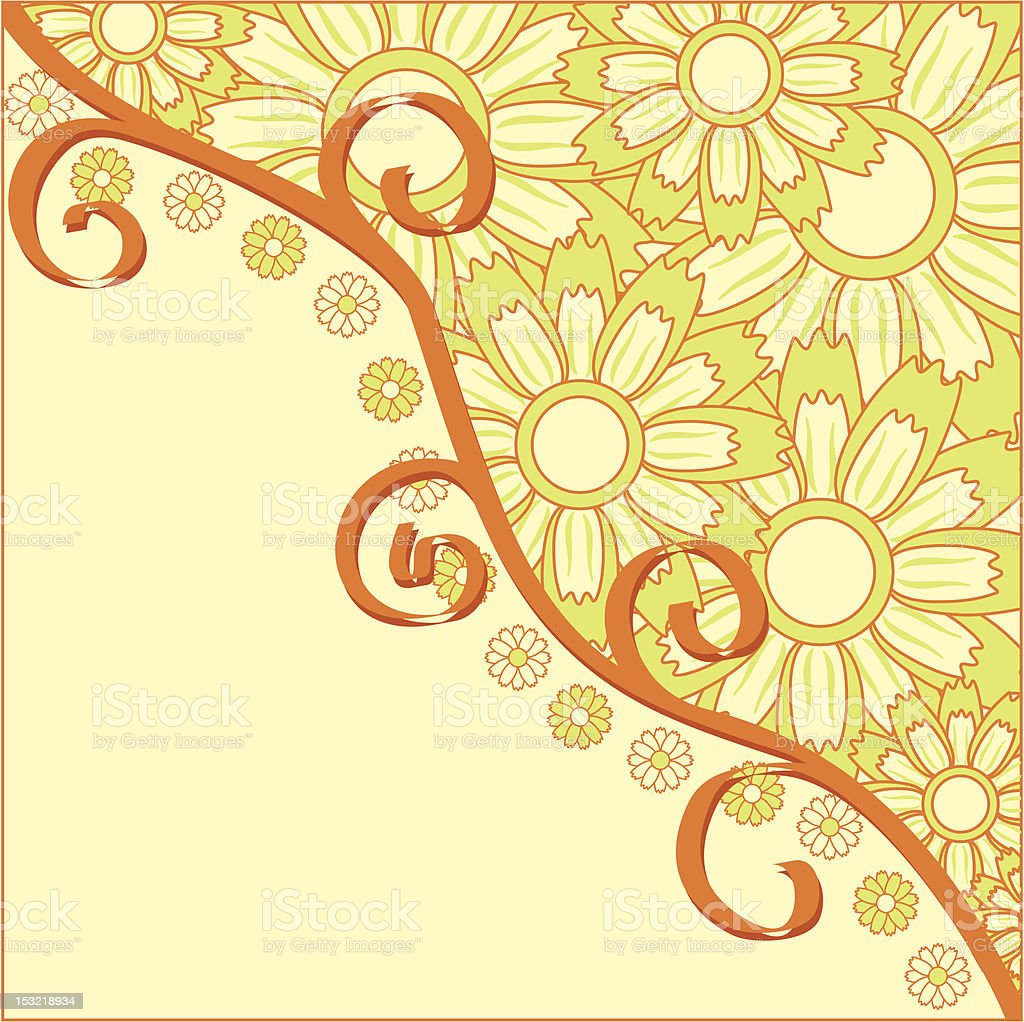 Summer background, vector royalty-free stock vector art