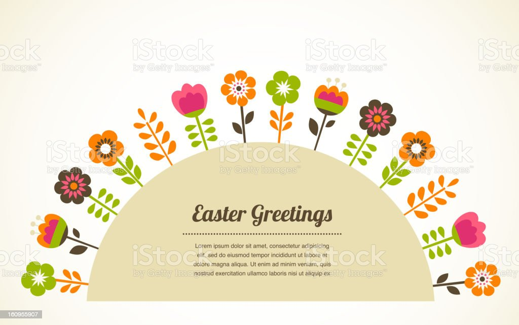 summer background with flowers royalty-free stock vector art