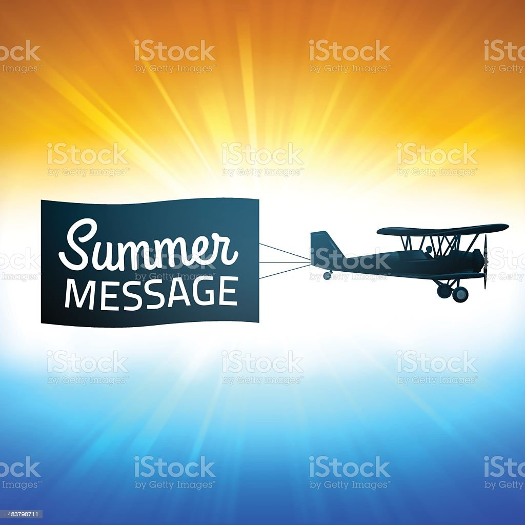 Summer Background with Message royalty-free stock vector art