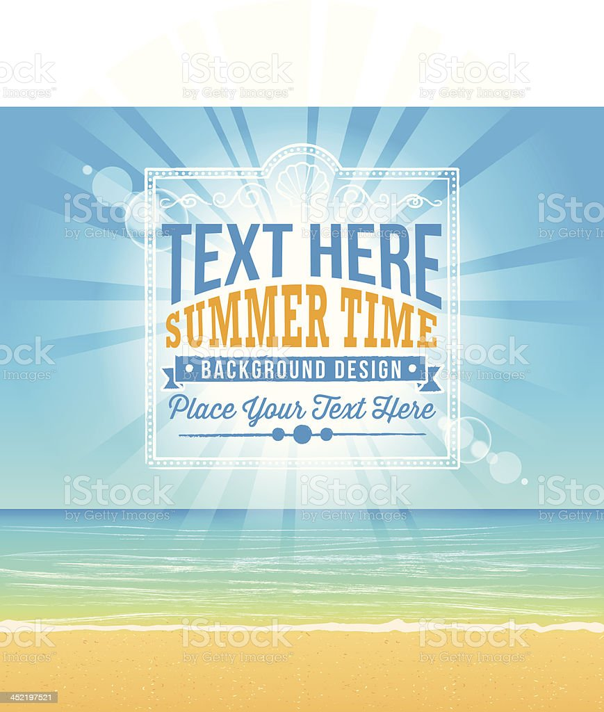 Summer Background with Text royalty-free stock vector art