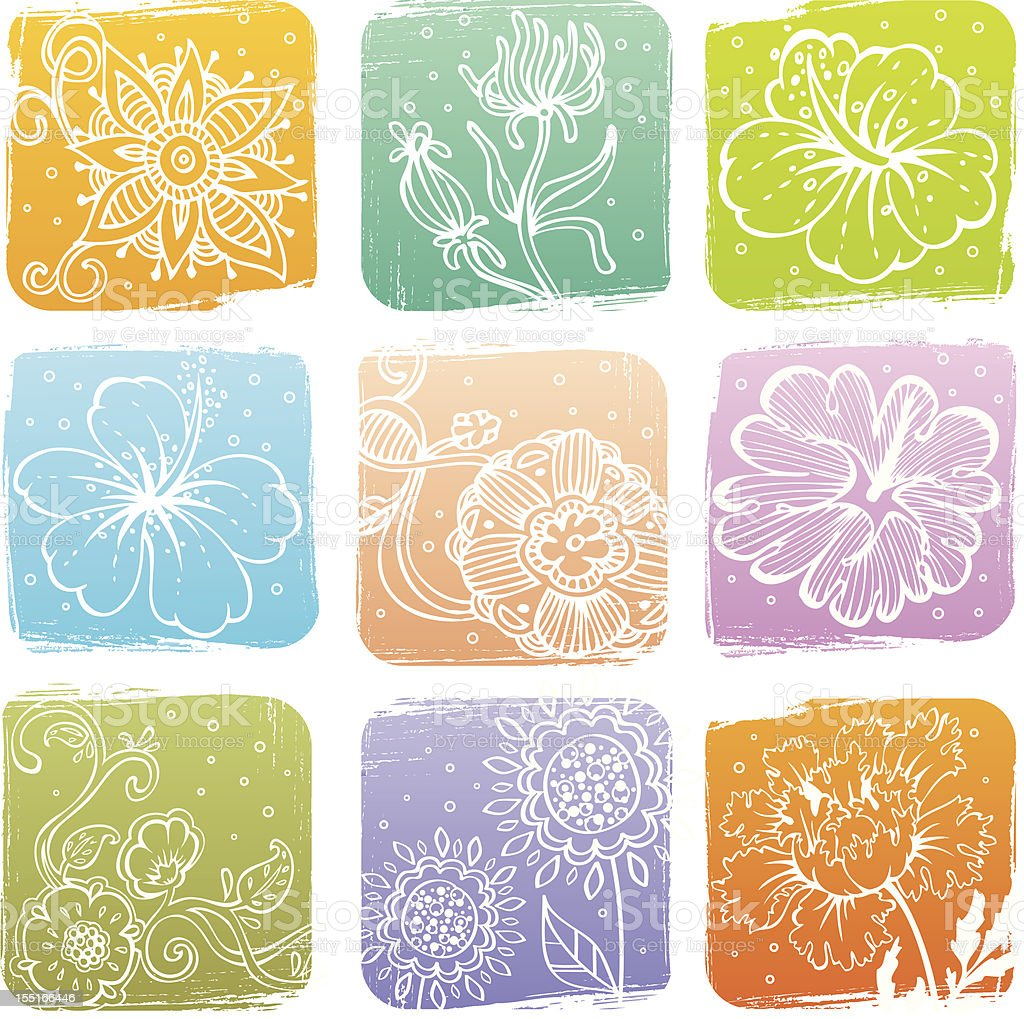 Summer banners with flowers royalty-free stock vector art