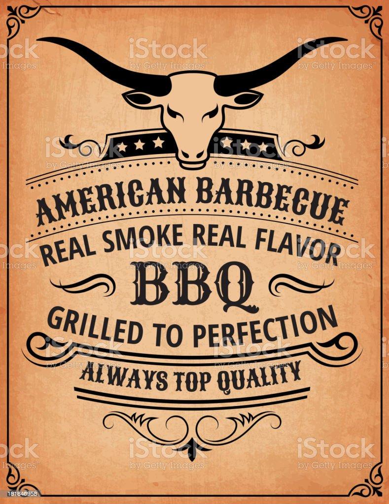 Summer Barbecue Invitation Card Royalty free vector illustration. royalty-free stock vector art