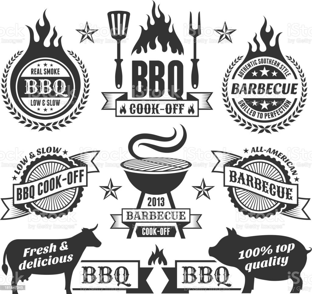 Summer Barbecue Royalty free vector graphics vector art illustration