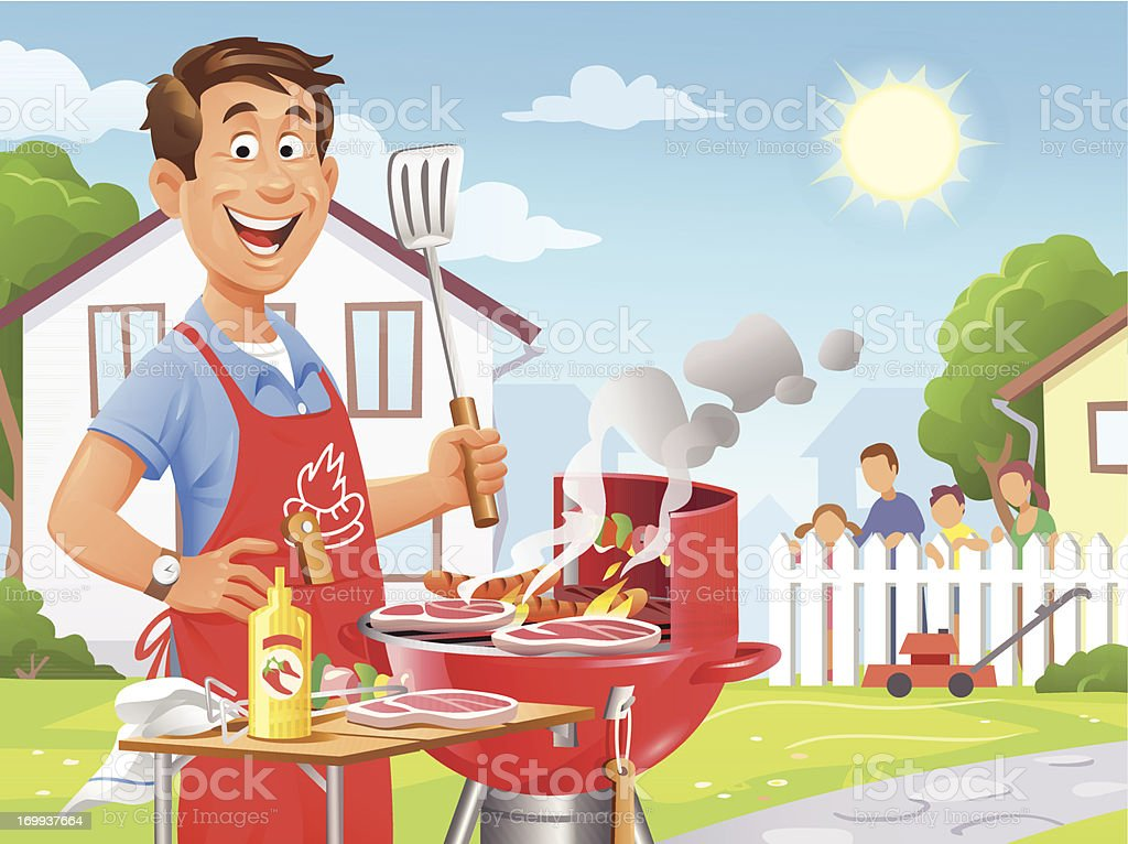 Summer Barbecue vector art illustration
