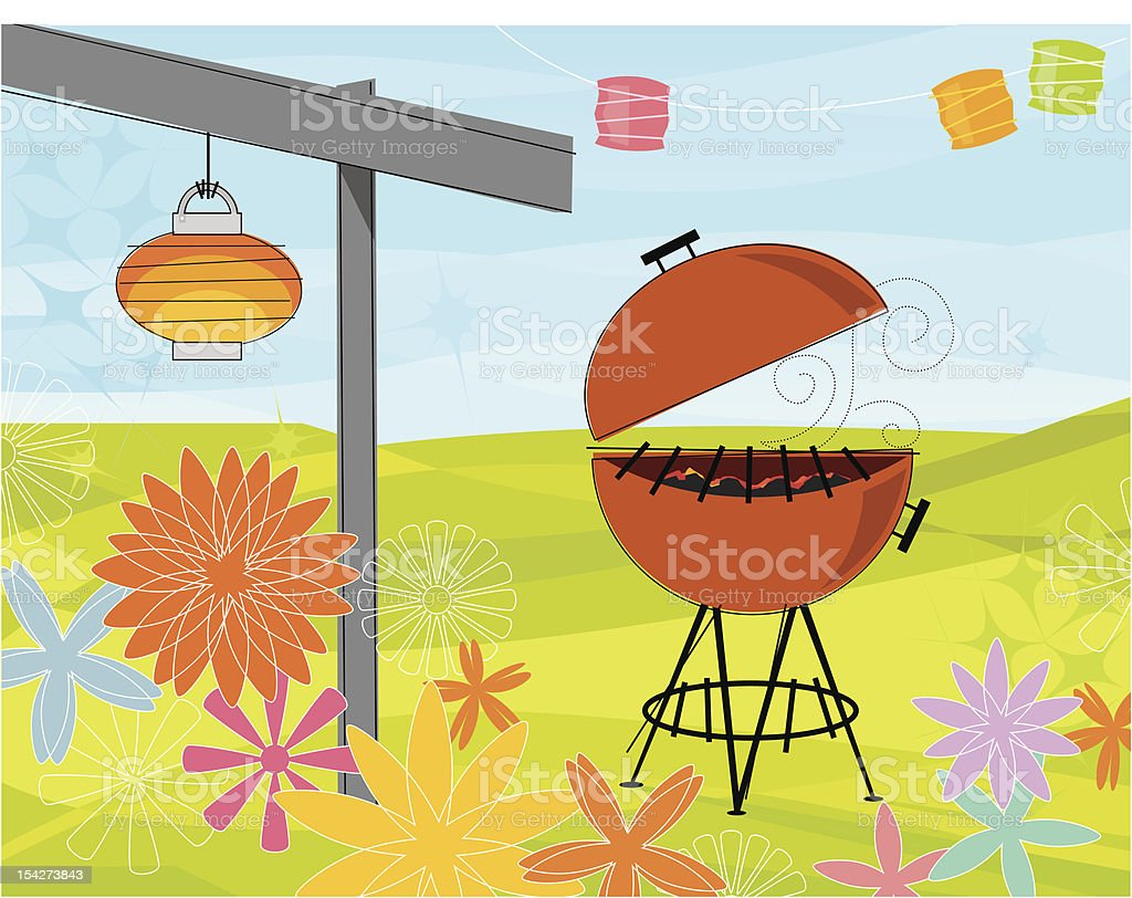 Summer Barbeque Party royalty-free stock vector art