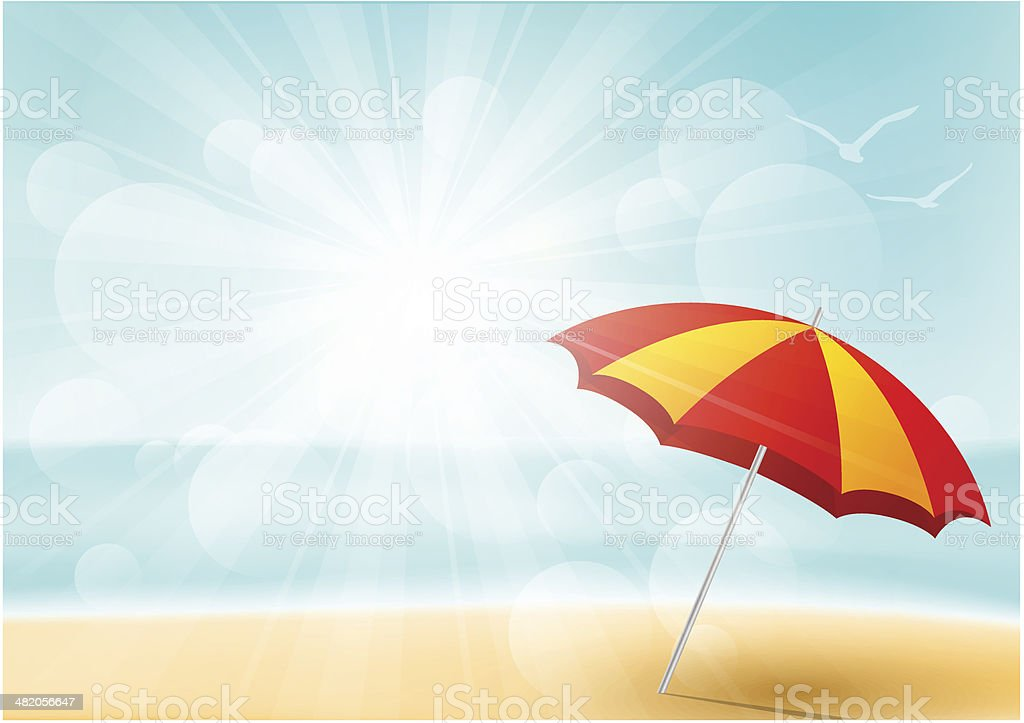 Summer beach background for Your design vector art illustration
