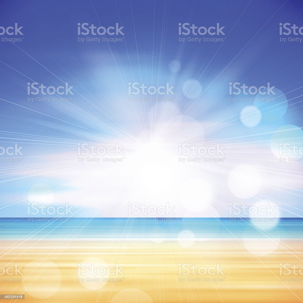 Summer Beach Background royalty-free stock vector art