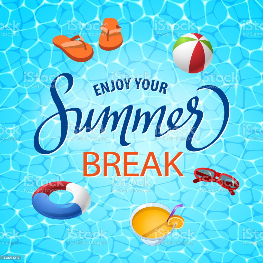 Summer Beach Elements Set vector art illustration