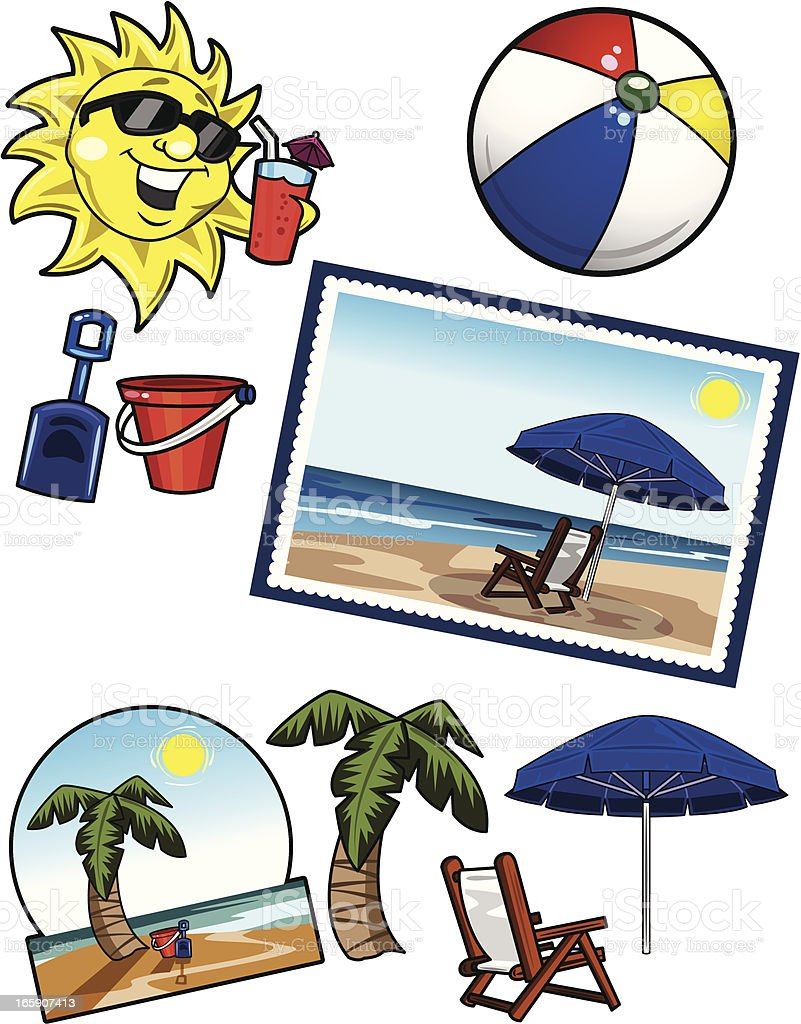 Summer Beach Pack royalty-free stock vector art