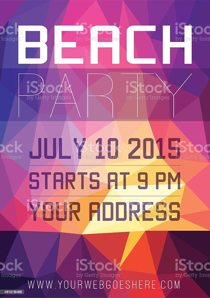 Summer Beach Party Flyer vector art illustration