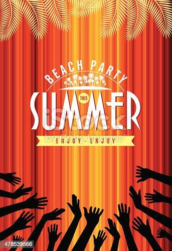 Vektor Sommer Strand Party Flyer Vorlage Vektor Illustration ...