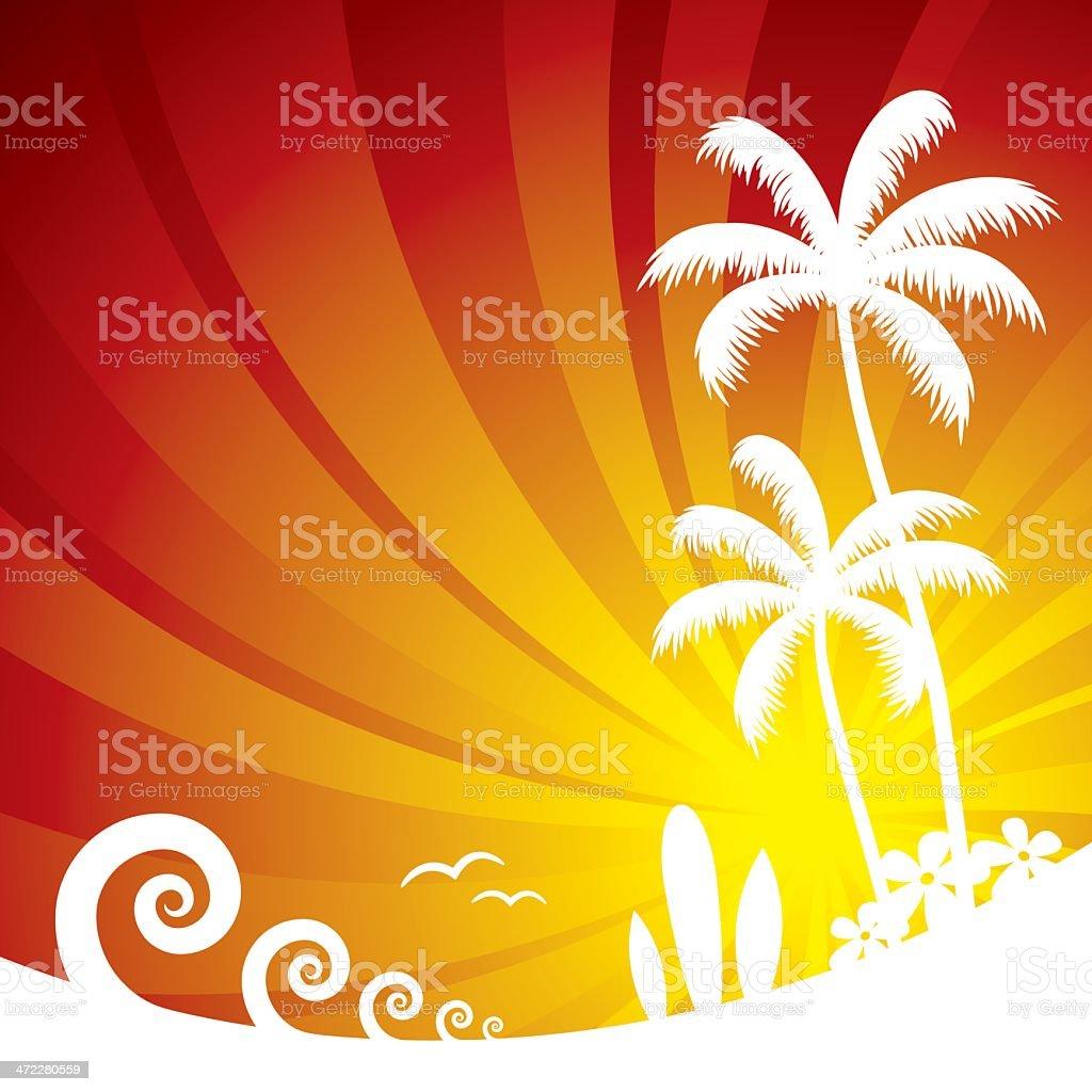 Summer Beach Scene royalty-free stock vector art