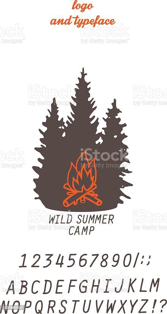 summer camp concept vector art illustration