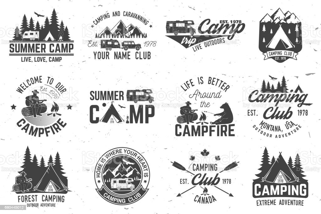 Summer camp. Vector illustration. Concept for shirt or , print, stamp or tee vector art illustration
