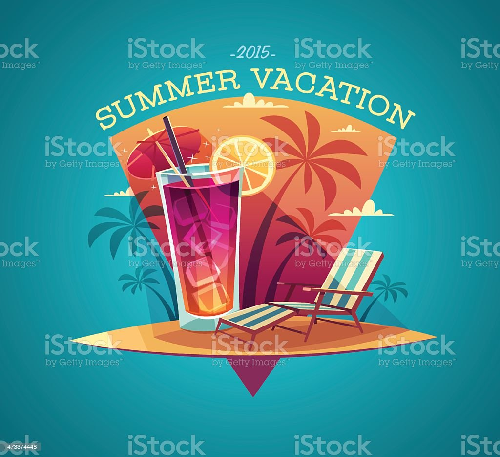 Summer card / poster / template vector art illustration