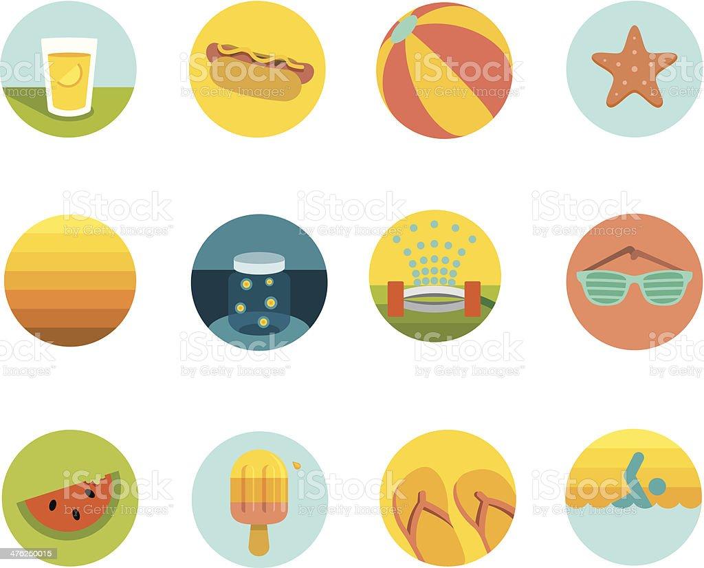 Summer Circle Pop royalty-free stock vector art