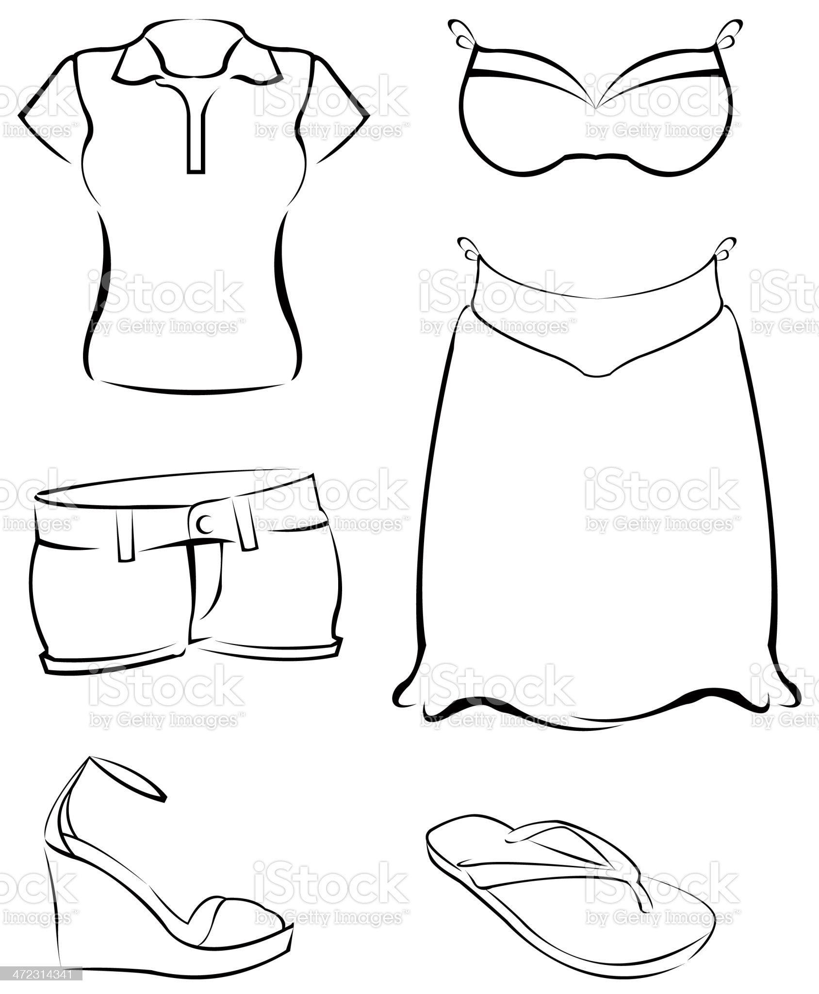 summer clothing royalty-free stock vector art