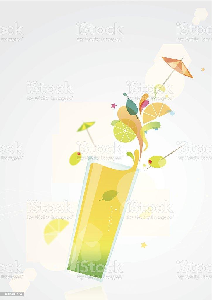 Summer cocktail vector art illustration