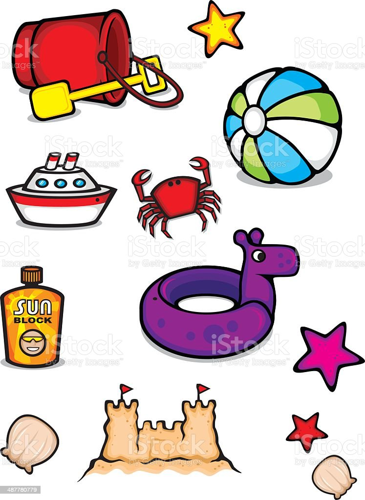 Summer Collection vector art illustration