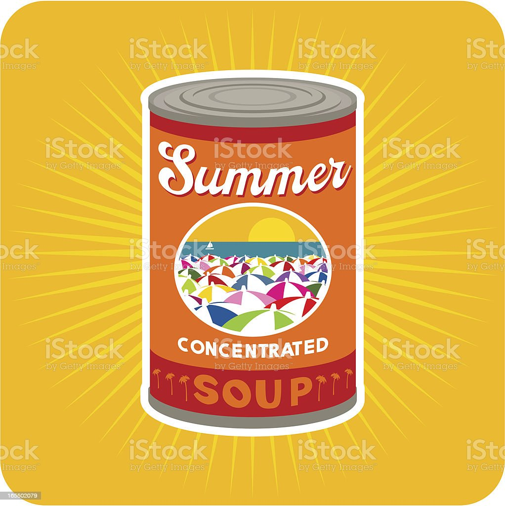 Summer condensed royalty-free stock vector art