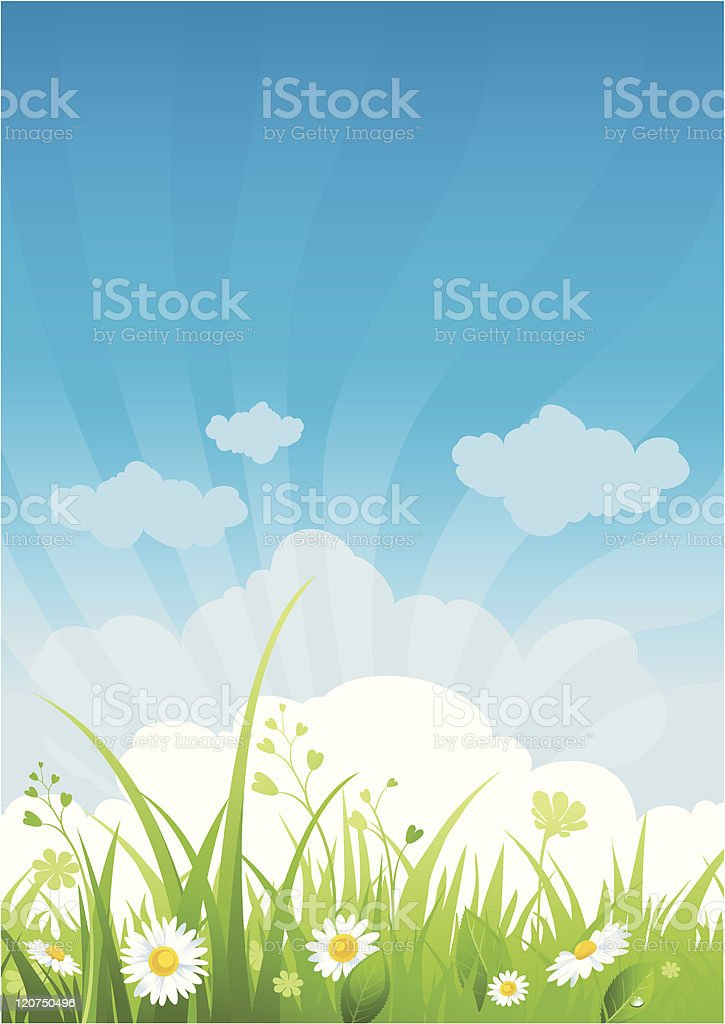 Summer day background royalty-free stock vector art