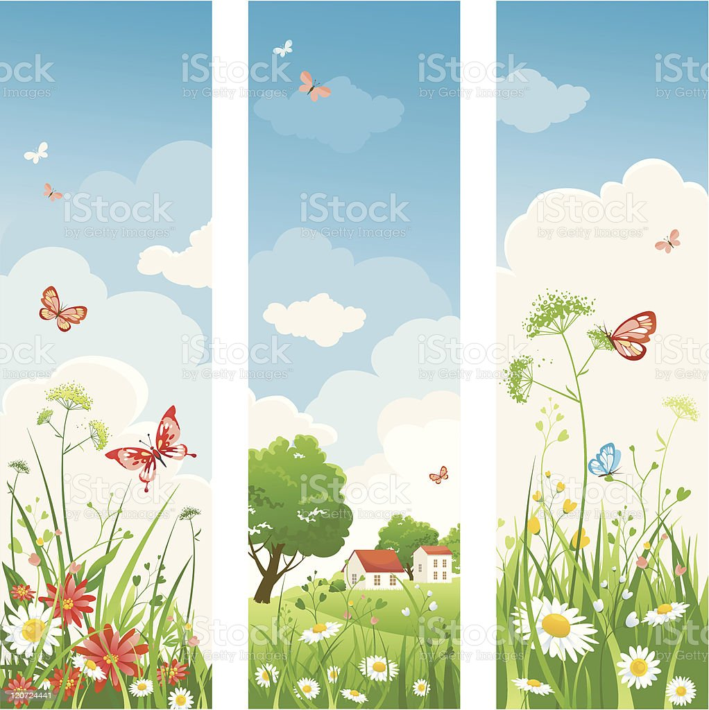Summer day banners royalty-free stock vector art