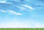 Summer day grassy horizon