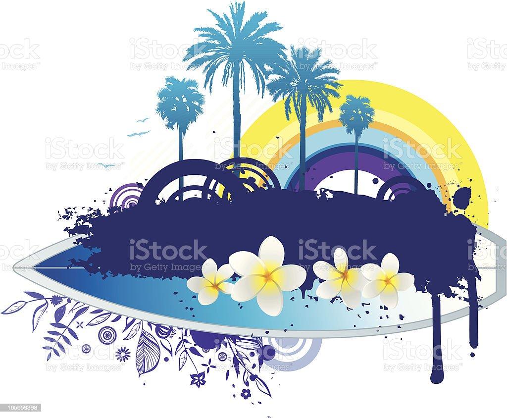 Summer design vector art illustration