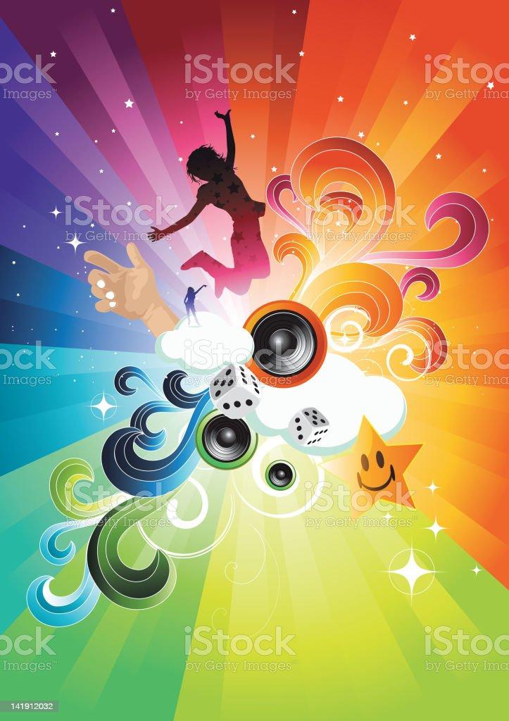 Summer Dream Explosion royalty-free stock vector art