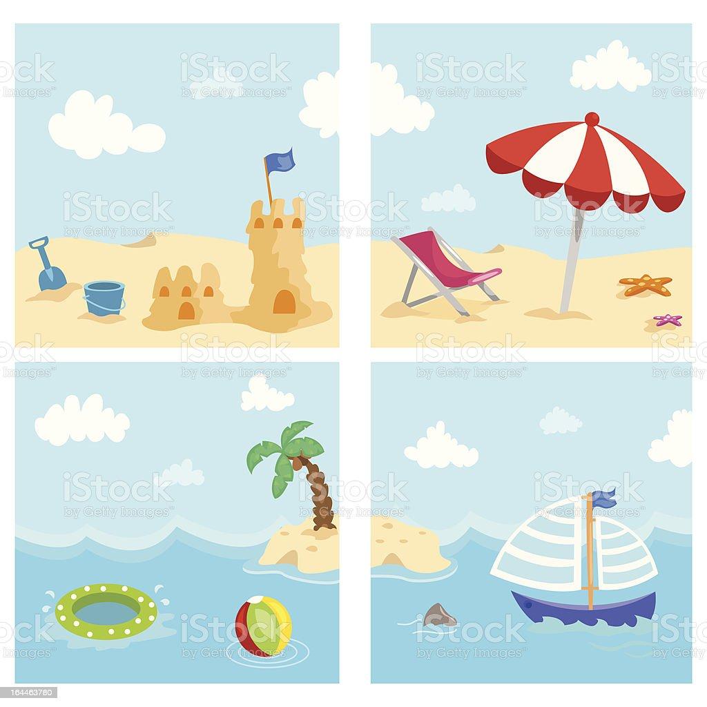 summer entertainment royalty-free stock vector art
