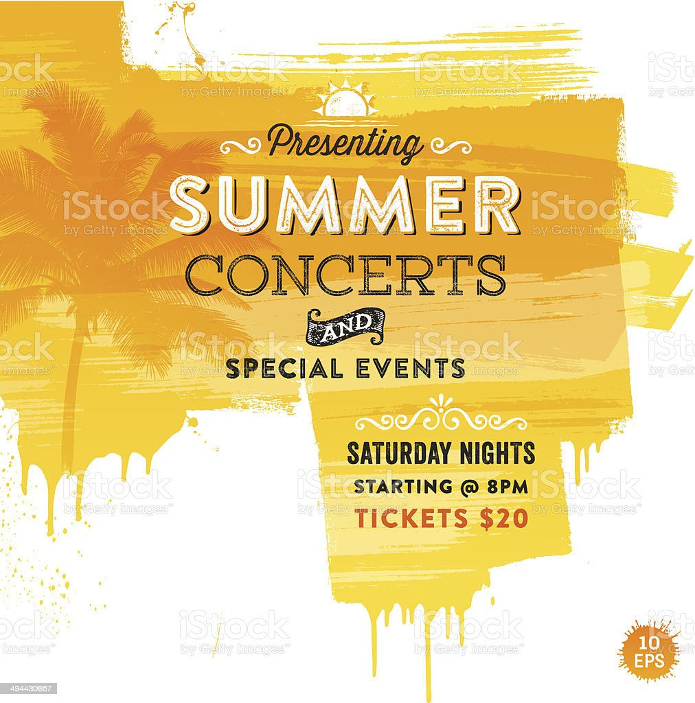 Summer Events Background vector art illustration