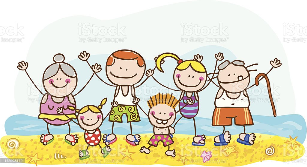 summer family royalty-free stock vector art