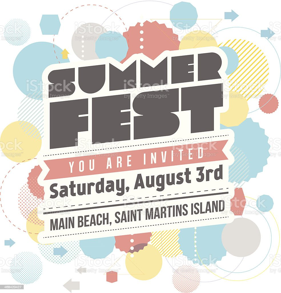 Summer Fest design vector art illustration